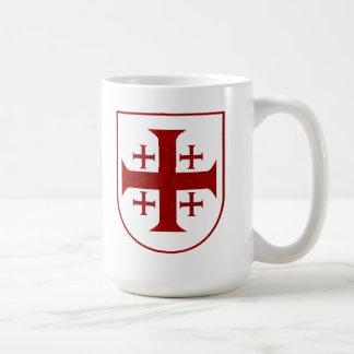 Jerusalem Cross, Distressed Classic White Coffee Mug