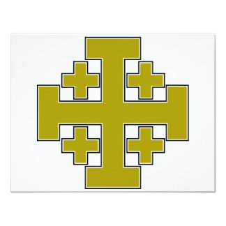 Jerusalem Cross Gold Card