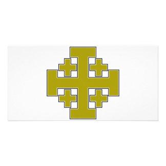 Jerusalem Cross Gold Photo Cards