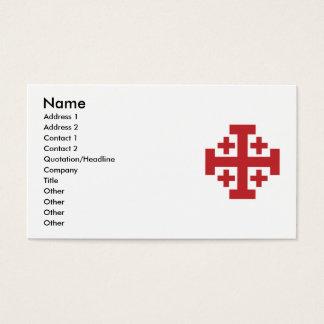 Jerusalem Cross in simple red Business Card