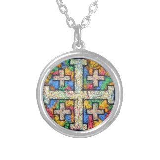 Jerusalem Cross Mosaic Necklace