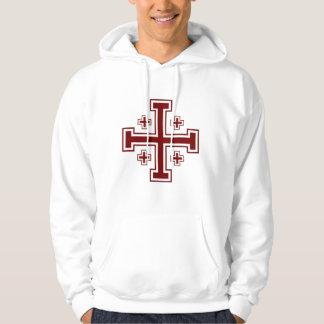 Jerusalem cross Papal Crusader Hoodie