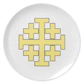 Jerusalem Cross Plate