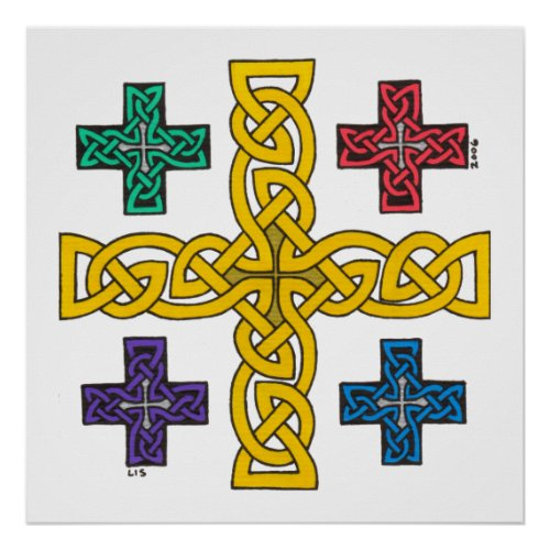 Jerusalem Cross print