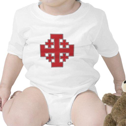 Jerusalem Cross Red Baby Bodysuit