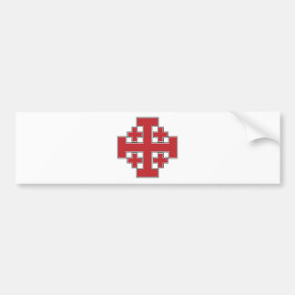 Jerusalem Cross Red Bumper Sticker