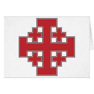 Jerusalem Cross Red Card