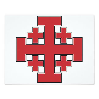Jerusalem Cross Red Card