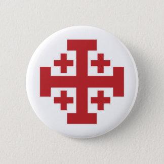 Jerusalem Cross simple red Button