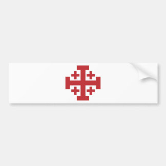 Jerusalem Cross simple red Car Bumper Sticker