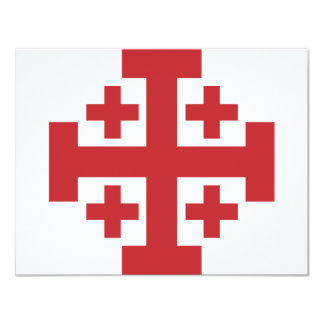 Jerusalem Cross simple red Card