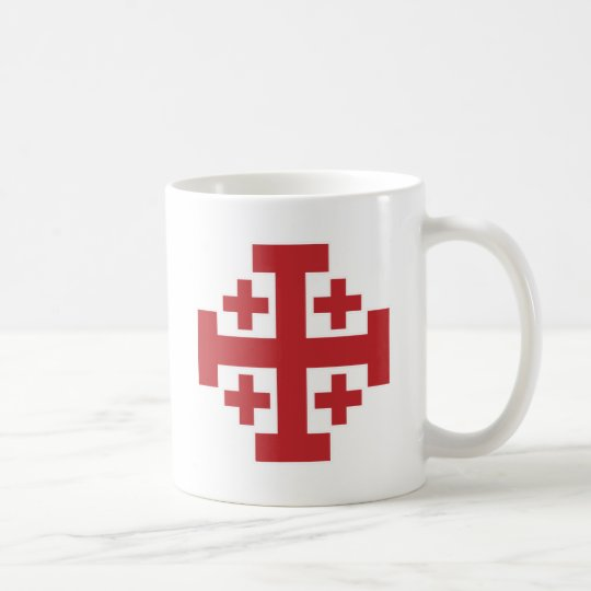 Jerusalem Cross simple red Coffee Mug