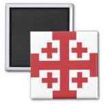 Jerusalem Cross simple red Refrigerator Magnet