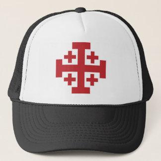 Jerusalem Cross simple red Trucker Hat
