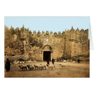 Jerusalem - Damascus Gate Card