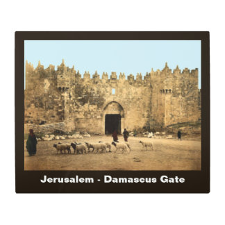 Jerusalem - Damascus Gate Metal Photo Print