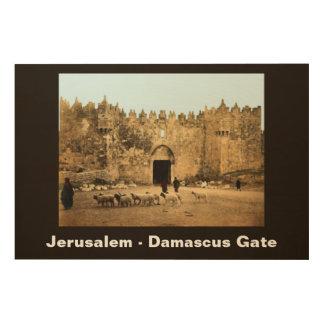 Jerusalem - Damascus Gate Wood Wall Art