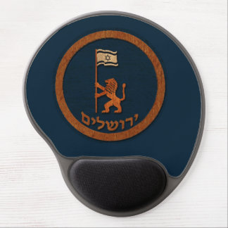 Jerusalem Day Lion With Flag Gel Mouse Pad