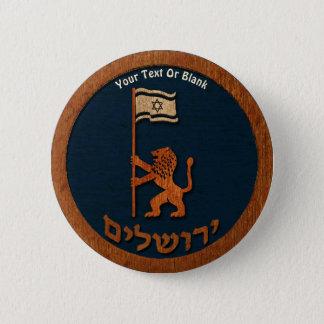 Jerusalem Day Lion With Flag Pinback Button