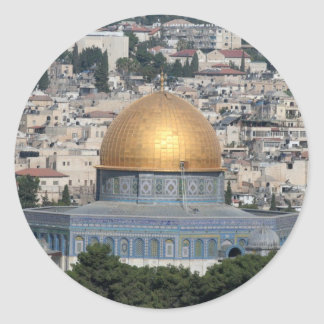 Jerusalem - Dome of the rock Cards and Papers Classic Round Sticker