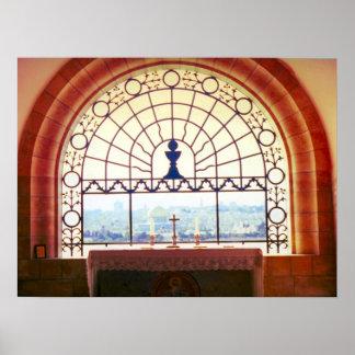 "Jerusalem ""Dominus Flevit"" chapel, Mount of Olives Posters"