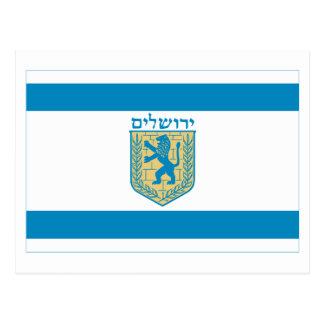 Jerusalem Flag Post Card