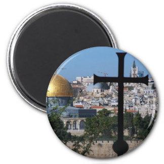 Jerusalem for Christians 2 Inch Round Magnet