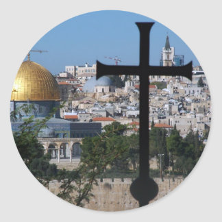 Jerusalem for Christians Classic Round Sticker