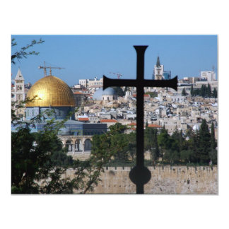 Jerusalem for Christians 4.25x5.5 Paper Invitation Card