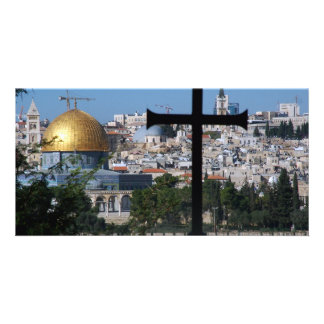 Jerusalem for Christians Custom Photo Card