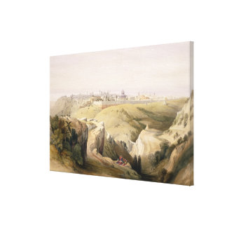 Jerusalem from the Mount of Olives, April 8th 1839 Canvas Print