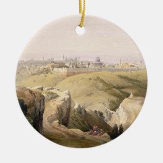 Jerusalem from the Mount of Olives, April 8th 1839 Ceramic Ornament