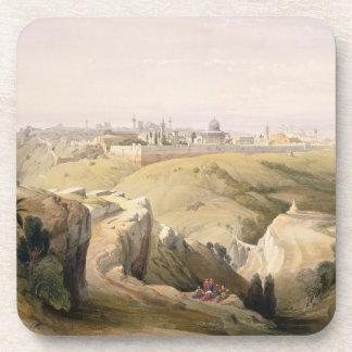Jerusalem from the Mount of Olives, April 8th 1839 Coaster