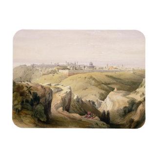 Jerusalem from the Mount of Olives, April 8th 1839 Magnet