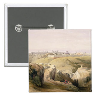 Jerusalem from the Mount of Olives, April 8th 1839 Pinback Button