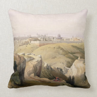 Jerusalem from the Mount of Olives, April 8th 1839 Throw Pillow