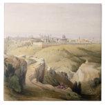Jerusalem from the Mount of Olives, April 8th 1839 Large Square Tile