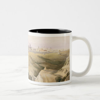 Jerusalem from the Mount of Olives, April 8th 1839 Two-Tone Coffee Mug