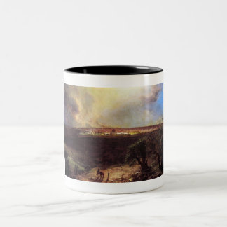 Jerusalem from the Mount of Olives by Church Two-Tone Coffee Mug