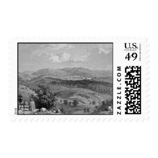 Jerusalem from the north postage stamp