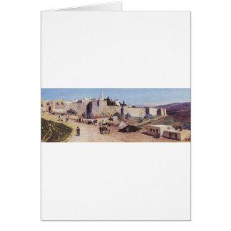 Jerusalem from the west. Jaffa Gate Card