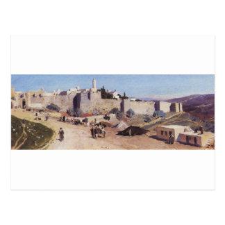 Jerusalem from the west. Jaffa Gate Postcard