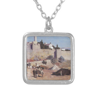 Jerusalem from the west. Jaffa Gate Square Pendant Necklace