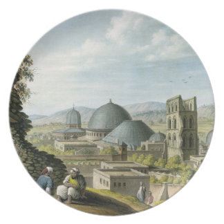 Jerusalem from the West, pub. by William Watts, 18 Party Plates