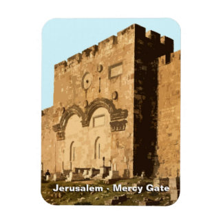 Jerusalem - Gate of Mercy Rectangular Photo Magnet