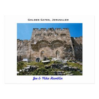 jerusalem golden gate postcard