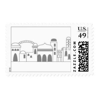 Jerusalem Gray Postage Stamp