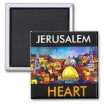 JERUSALEM HEART FRIDGE MAGNET