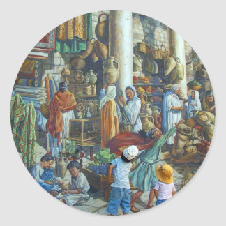 Jerusalem, Holy City by Miguel Nicolaevsky Classic Round Sticker