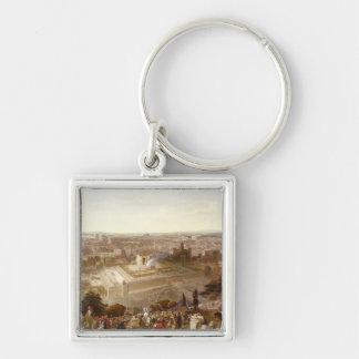 Jerusalem in her Grandeur, engraved by Charles Mot Keychain